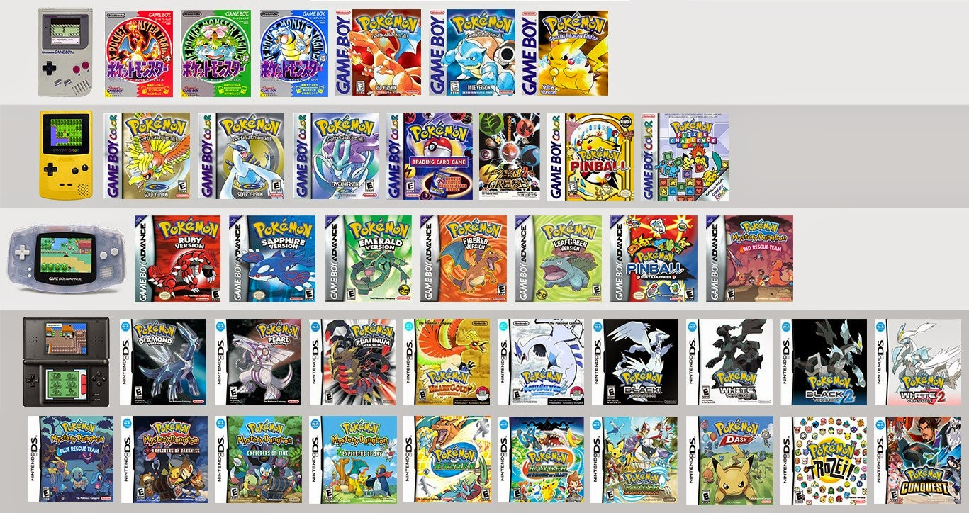 Nintendo Ds Pokemon Games : Pokemon roms emulators gbc gba nintendo ds for free